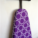 Ironing Board Cover - Purple and white modern decor