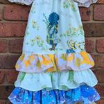 Gorgeous Vintage Linen Holly Hobbit Easter Dress