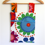 Laundry Fun Peg Bag - Bright Circle Flowers