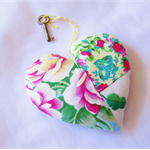 Key To My Heart Ornament Bowl Filler Vintage Skeleton Key Sis Boom Patchwork