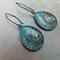 Turquoise Print Earrings