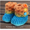 Crocodile Stitch Baby Booties - crochet booties red mint, orange Size 0-6 months