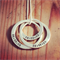 3 Lush Linked Loops pendant Hand Stamped/ pendant/ Jewellery/ Necklace