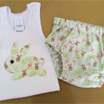 Bunny  nappy cover and tank, sweet for Easter