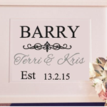 Decal Anniversary Gift Personalised Perfect Gift for Weddings, Engagement