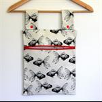 Laundry Fun Peg Bag - Flying Black Goldfish