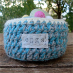 Easter Egg Basket Hand Crochet