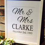 Decal Anniversary Gift- Mr. & Mrs.  Perfect Gift for Weddings, Engagement