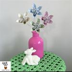 Paper Chevron Flowers Set of four - Pastles