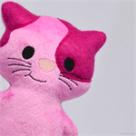 Pink Kitty Cat Rattle Toy