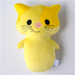 Yellow Kitty Cat Rattle Toy