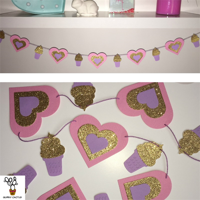Ice Cream Store Bunting Decor