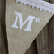 """BURLAP & LACE"" Additional Flags for Personalised Wedding Bunting by Arti Mardi"
