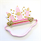 Feather Crown - Headdress - Gold & Blush Pink -