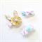 Bunny Clip Set - Easter Clip Set - Gold - Glitter - Mint - Pink