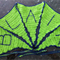Personalised name banner baby bunting crochet flags green nursery decor