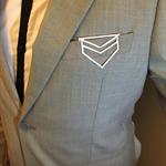 Groom, groomsman, best man gift, suit accessory, pocket clip - man bling - shiel