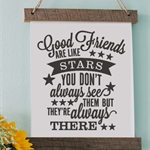 Good friends Decal Vinyl Print Picture Frame, Engagements, Cardstock, wall art