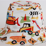 Construction Bucket Hat. Sizes 0-3 months - 4-10 years