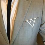 Groom, groomsman, best man gift, suit accessory, pocket clip - triangle design