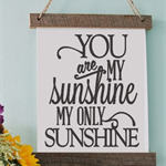 You are my Sunshine Vinyl Print Picture Frame, Engagements, Cardstock, wall art