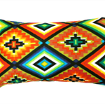 Mexican cushion cover neon aztec pillow ethnic tribal oblong cushions green