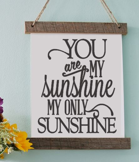 You Are My Sunshine Vinyl Print Picture Frame Engagements