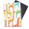 Giraffe Love on White Passport Cover/Holder