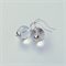 Clear Quartz and Sterling Silver Earrings