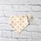 Bandana Bib in Blush w Gold Polka Dots