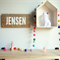 Confetti Personalised Little People Name Timber Wooden Sign