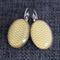 Yellow Double Chevron ~Oval Lever Back Earrings