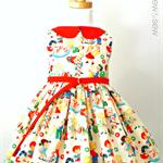 Size 2-3 LS Celebration Party Dress 1950s Candy Store