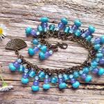 Turquoise & Lavender Jade Gemstone Wish Bracelet