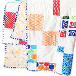 Modern Block Quilt. Cot Size.