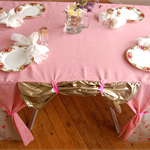 Princess Palace: Candy Stripe Pink Heart Table Cubby house