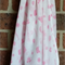Muslin Baby Blanket,  Aztec pattern, baby girl