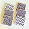 Grey Coasters - 6 Ceramic Tile Drink Coasters Chevron Square Chainlink Moroccan