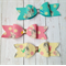 Vintage Bunny Bow - Clip/Headband - Lemon - Pink - Turquoise - Easter