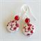 Red Floral Earrings