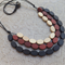 Wood Beaded Necklace - Mahogany Brown