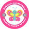 Personalised girls girl bright butterflies butterfly pink DIY stickers favour