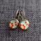 Flowers on Blue ~ Lever Back Earrings