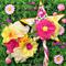 Autumn garden fairy set Golden leaves ribbon star wand and flower headband