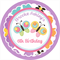 Personalised girls girl bright butterflies butterfly pink cute stickers favour