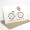 Happy Mothers Day Card - Mint and Coral Bicycle - HMD008