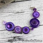 Bracelet - Vibrant Purple - Mixed Button Bracelet