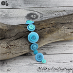 Bracelet - Aqua - Teal - Turquoise - Mixed Button Bracelet