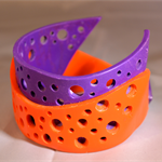Orange and purple bangle