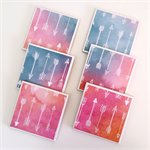 Watercolour Arrow Coasters - 6 Ceramic Tile Drink Coasters Summer Colours